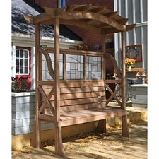Shaded Tugboat Cedar Pergola