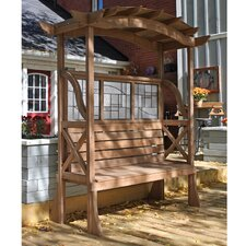 "Shaded Tugboat Cedar 6' 10"" H x 6' 4"" W x 3' 2"" D Pergola"