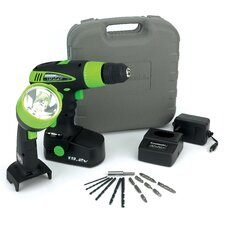 19.2V Cordless Drill / Worklight Set in Black