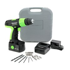 <strong>Kawasaki</strong> 14.4V 20 Piece Cordless Drill Kit in Black