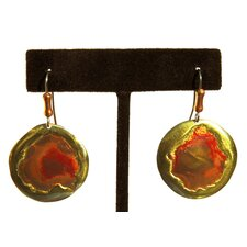 Round Copper and Brass Earrings with Surgical Steel Earwires