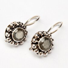 Labradorite Greyish-Blue Gemstone Sterling Silver Earrings