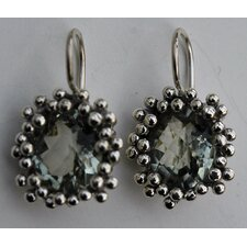 Green Amethyst Sterling Silver Earrings