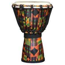 Kente Cloth Kids Djembe Drum