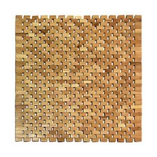 Teak Square Shower Mat