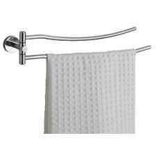 Naxos Double Swing Towel Rail in Chrome