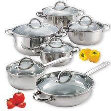 <strong>Cook N Home</strong> 12-Piece Stainless Steel Cookware set