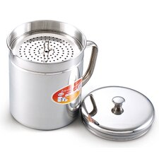 <strong>Cook N Home</strong> 1.5 Quart Stainless Steel Oil Storage Can