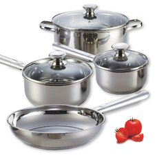 <strong>Cook N Home</strong> 7-Piece Stainless Steel Encapsulated Bottom Cookware Set