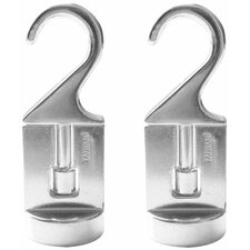 <strong>Cook N Home</strong> Cooks Standard Pot Rack Swivel Hook (Set of 2)