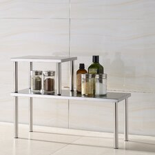 <strong>Cook N Home</strong> Stainless Steel Square Corner Storage Shelf
