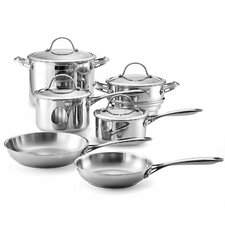 Stainless Steel 10-Piece Cookware Set