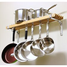 Wall Mount Pot Rack Set