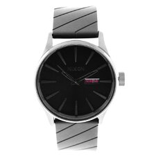 Men's Sentry Watch with Black Dial