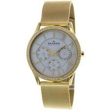 Women's Mesh and Glitz Crystal Watch