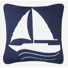 <strong>C & F Enterprises</strong> Nantucket Dream Sailboat Quilt Pillow