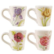 Embroidered Garden Mug (Set of 4)