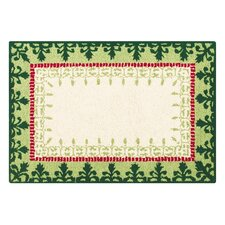 Royal Orchard Hooked Rug