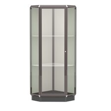 Prominence Series Lighted Corner Display Case