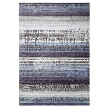 Graphic Edge Blue Woven Rug