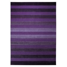 Cross Walk Violet Contemporary Rug