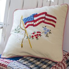 God Bless America Porch Pillow