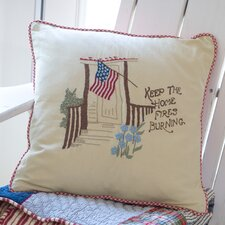 Keep the Home Fires Burning Porch Pillow