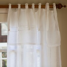 <strong>Taylor Linens</strong> Sweetbriar Linen Tab Top Curtain Single Panel