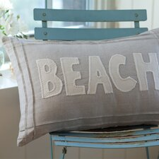 Natural Linen Beach Pillow