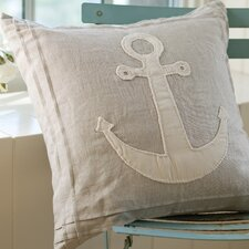 Natural Linen Anchor Pillow