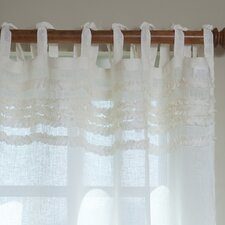 <strong>Taylor Linens</strong> LuLu Linen Tab Top Voile Curtain Single Panel