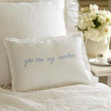 You are My Sunshine Linen Boudoir Pillow