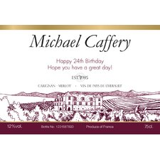 Personalized Red Wine Label