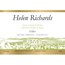 <strong>Signature Gifts</strong> Personalized White Wine Label