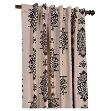<strong>Half Price Drapes</strong> Jakarta Printed Cotton Rod Pocket Curtain Single Panel