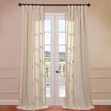 Lanai Linen Blend Stripe Curtain Single Panel