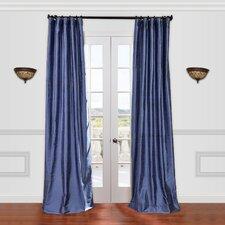Textured Dupioni Silk Curtain Single Panel