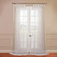<strong>Half Price Drapes</strong> Florentina Embroidered Sheer Curtain Single Panel
