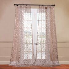 Loretta Patterned Sheer Curtain Single Panel