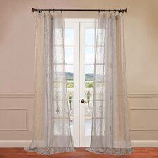 Piera Patterned Sheer Curtain Single Panel