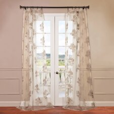 Francesca Patterned Sheer Curtain Single Panel