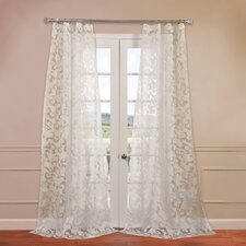 Alesandra Patterned Sheer Curtain Single Panel