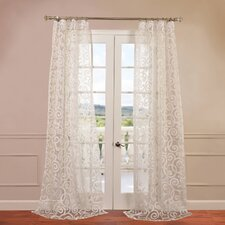Marietta Patterned Sheer Curtain Single Panel