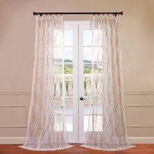 Contessa Embroidered Sheer Curtain Single Panel