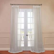 Open Weave Linen Sheer Curtain Single Panel