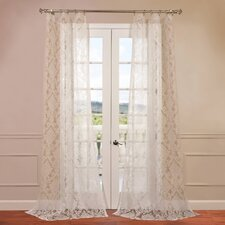 Antoinette Patterned Sheer Curtain Single Panel