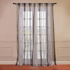 Signature Havannah Striped Linen and Voile Weaved Sheer Curtain Single Panel