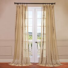 Cleopatra Embroidered Sheer Curtain Single Panel
