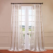 Lunetta Embroidered Sheer Curtain Single Panel