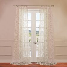 Margo Patterned Sheer Curtain Single Panel